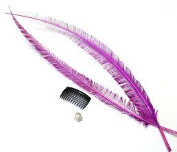 Long Cut Azalea Purple Ostrich Feather